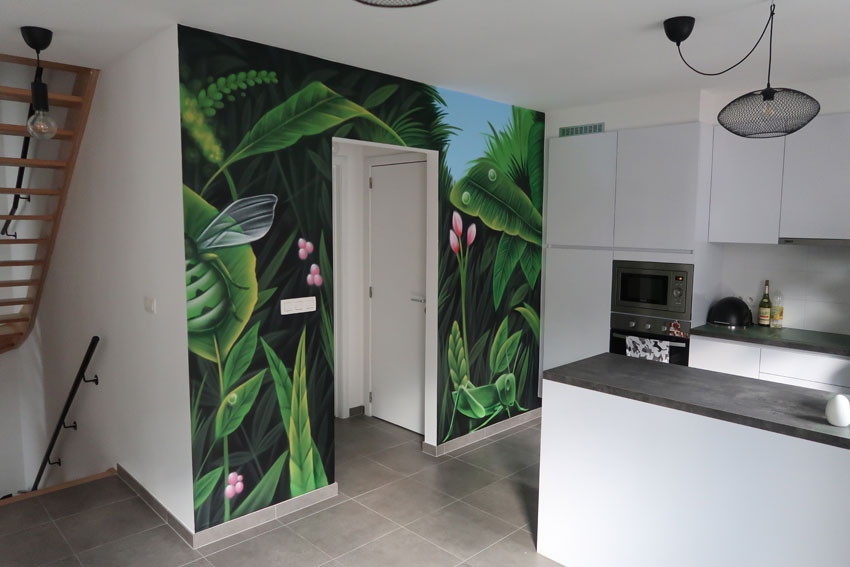 Keukenmuur graffiti