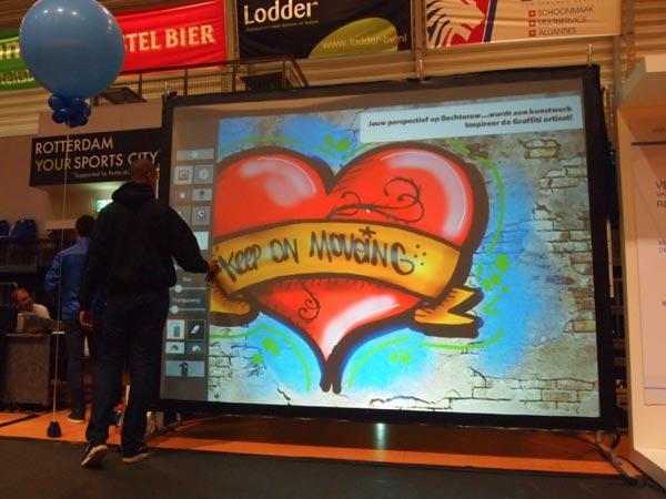 Digitale graffiti muur